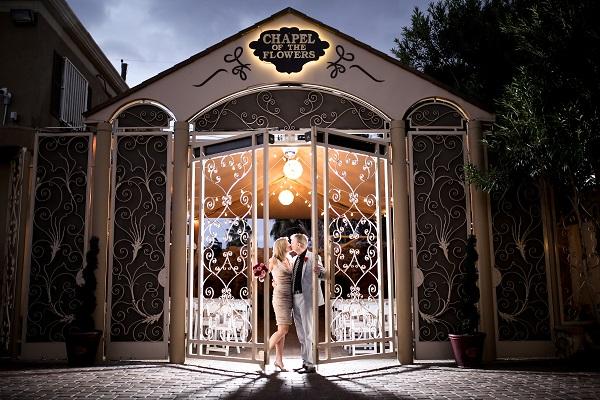 Las Vegas Wedding by Chapel of the Flowers