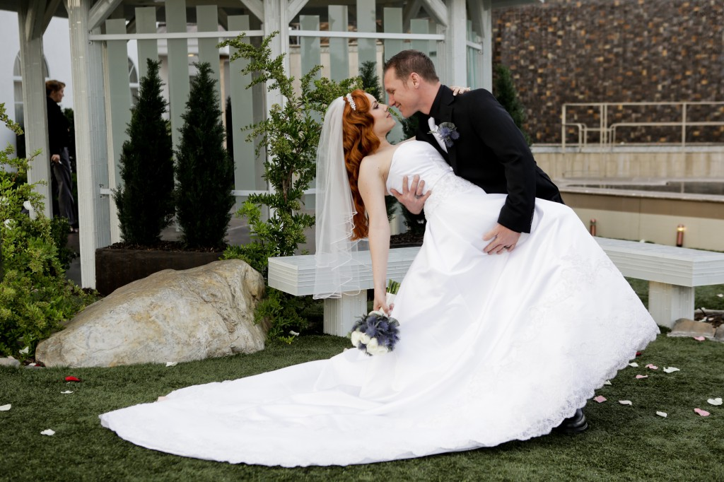 Wedding Ceremony at Chapel of the Flowers in Las Vegas