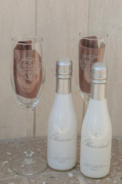 Champagne at Las Vegas Wedding