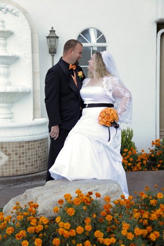 Las Vegas Wedding Ceremony at Chapel of the Flowers