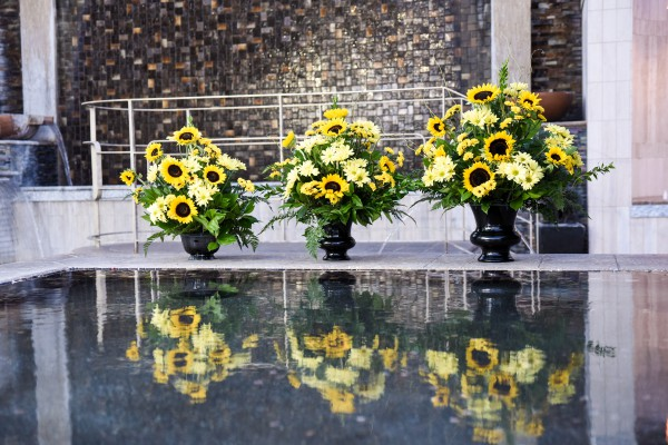 Sunflower Altar Spray at Chapel of the Flowers