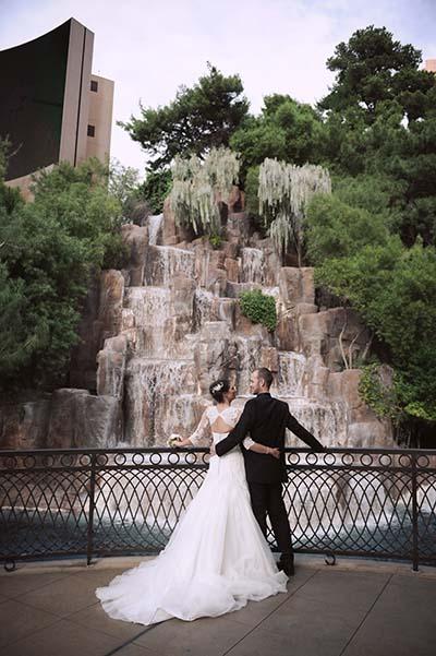Las Vegas wedding photo of the month winner for Chapel of the Flowers taken at Wynn Las Vegas