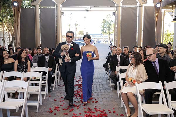 Adorable Wedding Processional at Las Vegas Wedding Chapel of the Flowers