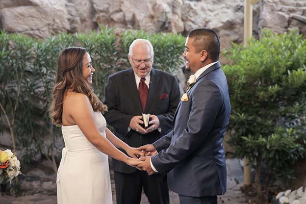 Candid Wedding Ceremony Photography at Chapel of the Flowers a Las Vegas Chapel
