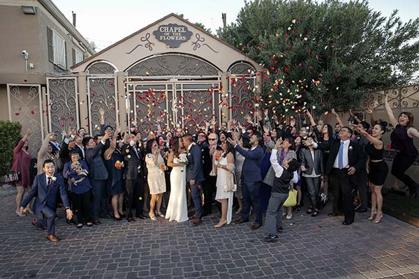 Flower Shower Wedding Photo at Chapel of the Flowers
