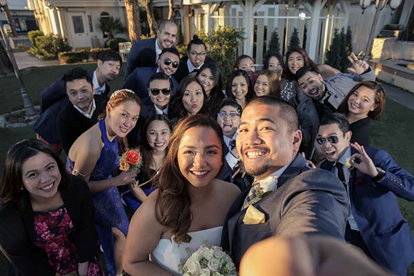 Wedding Day Selfie at Las Vegas Wedding Chapel of the Flowers