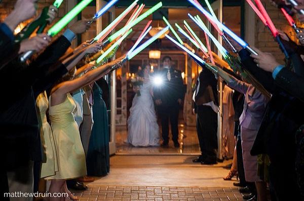 Light sabers for wedding send off