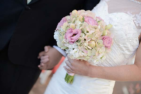 Las Vegas Wedding Ceremony at Chapel of the Flowers Celebrate with Blooms