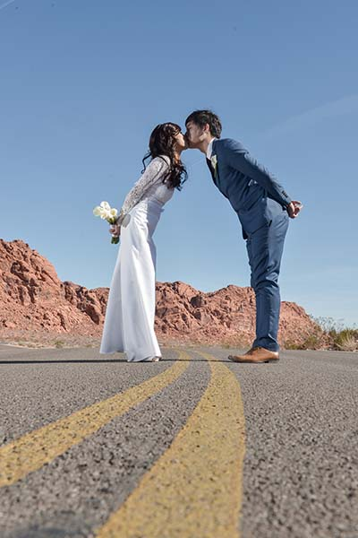 Photo of the Month Winner Chapel of the Flowers Valley of Fire Wedding