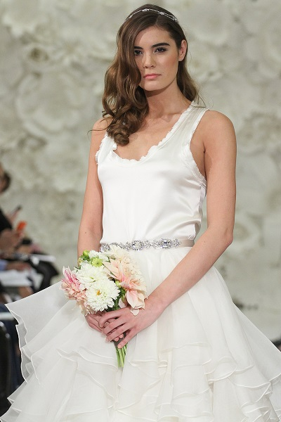 Your Spring Bridal Look Created With Separates Watter Brides Chemise Top