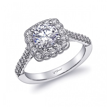 A Romantic Bride Coast Diamond romantic engagement ring (LC10195)