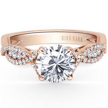 Kirk Kara Pirouetta Engagement Ring Valentines Day Proposal