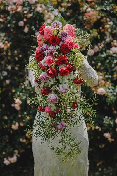 A Romantic Bride cascading bridal bouquet Chic Vintage Brides dot com