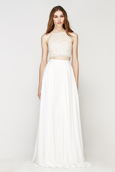 Your Spring Bridal Look Created With Separates Watters Willowby Vanu Crop Top