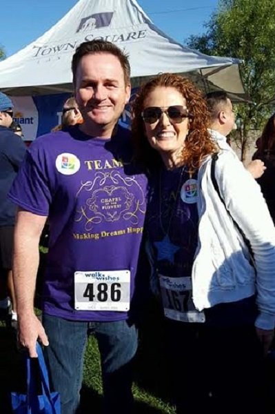 CEO Donne Kerestic and Head of Operations Nicole Roberston of Chapel of the Flowers at Walk for Wishes
