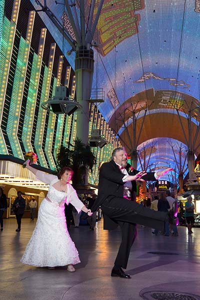Downtown Las Vegas Wedding Photo Session by Chapel of the Flowers