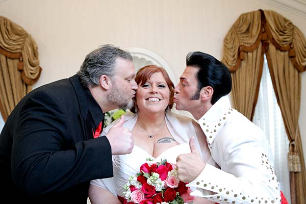 Fun Elvis Wedding Photo at Chapel of the Flowers