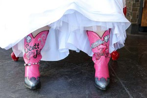 HD West Boots for Las Vegas Wedding at Chapel of the Flowers