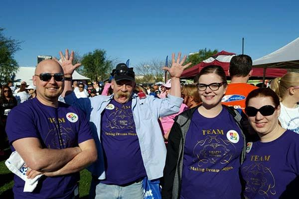 Chapel of the Flowers Team at Walk for Wishes a Make a Wish Foundation Event