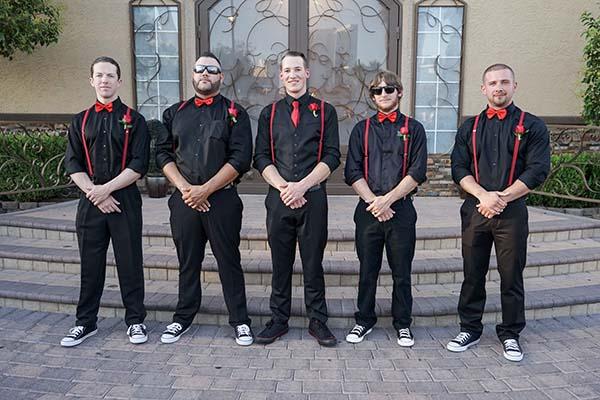Rockabilly groomsmen attire