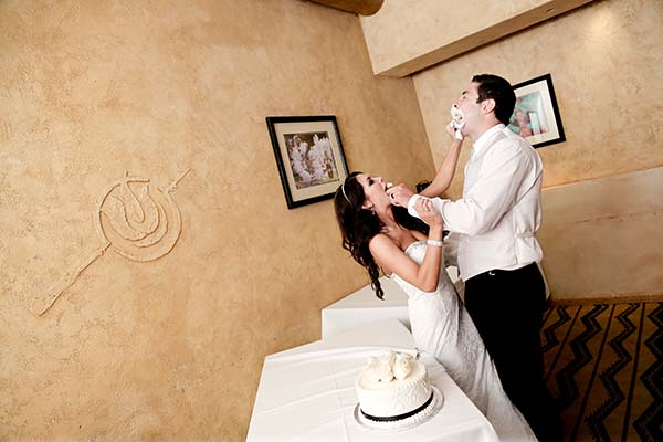 Cake Smash at Las Vegas Wedding Reception