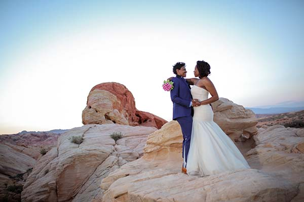 Same-sex wedding packages in Las Vegas Nevada at Valley of Fire