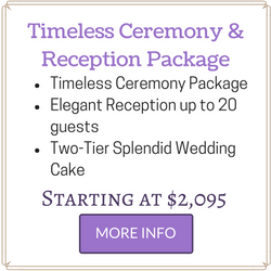 Affordable Las Vegas Wedding Package includes Ceremony and Reception for up to 20 guests