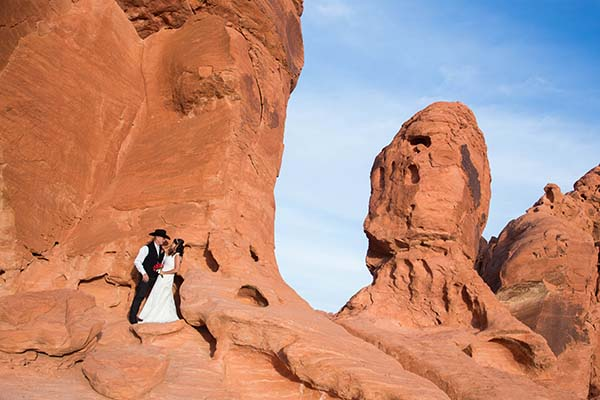 Cowboy and Country themed weddings at Valley of Fire State Park