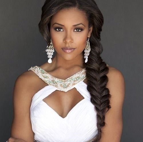 Black Bridal Hairstyles :: Side Braid