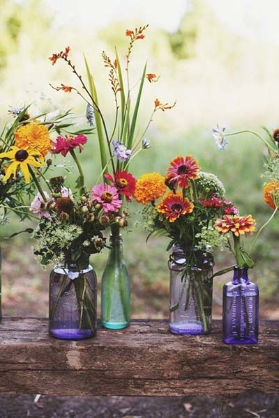 Wildflower Reception Decor for Bohemian Weddings