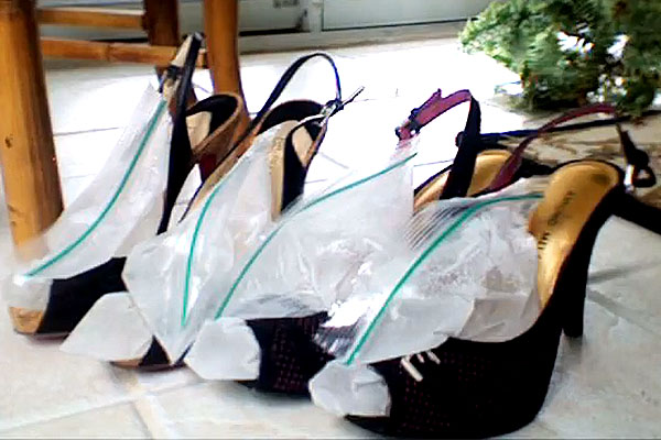 Stretch Wedding Shoes by freezing bags of water in your shoes