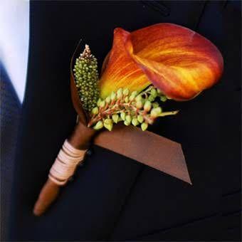 Fall Weddings :: Earthy Boutonniere