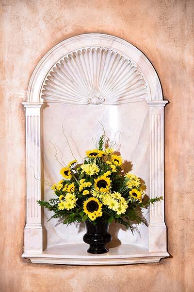Sunflower altar spray