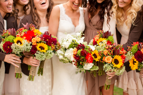 Fall Wedding Flowers :: Bridal Bouquets and Bridesmaids Floral