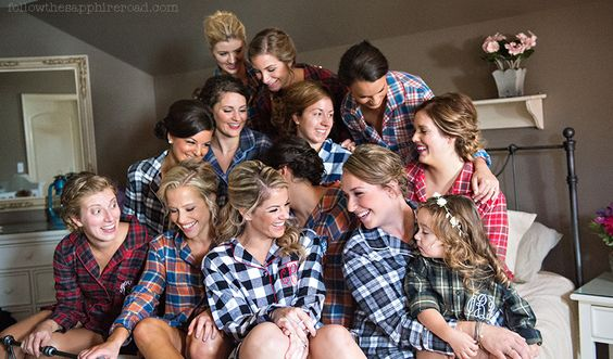 Pre-Ceremony Photos for Fall Wedding :: Flannel Bridesmaids