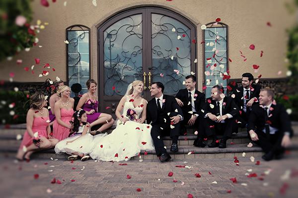 wedding photo ideas :: must have flower shower wedding photos
