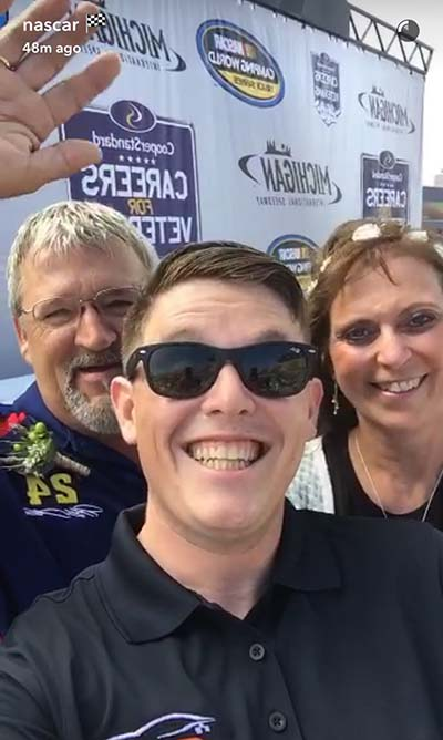 Spencer Gallagher marries NASCAR fans