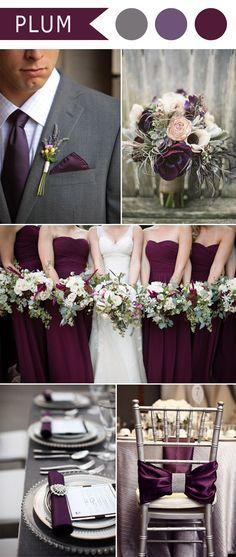 Marsala Wedding Color Scheme :: Plum Weddings