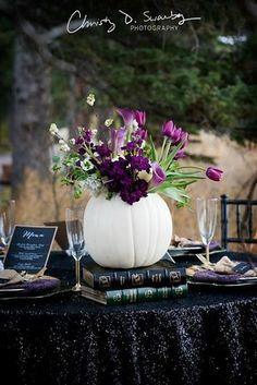 Fall Wedding Centerpiece :: Pumpkin Wedding Decor