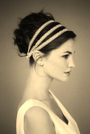 Ribbon Wedding Hairstyle