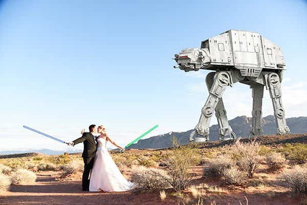 Star Wars Wedding at the Valley of Fire :: Packages and Photography by Chapel of the Flowers