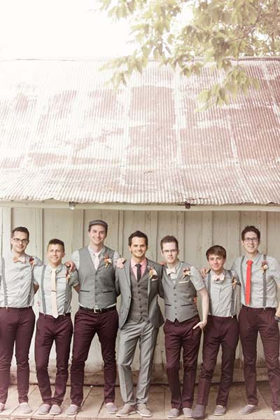 Mix and Match Groomsmen Suits :: 2017 Wedding Trends