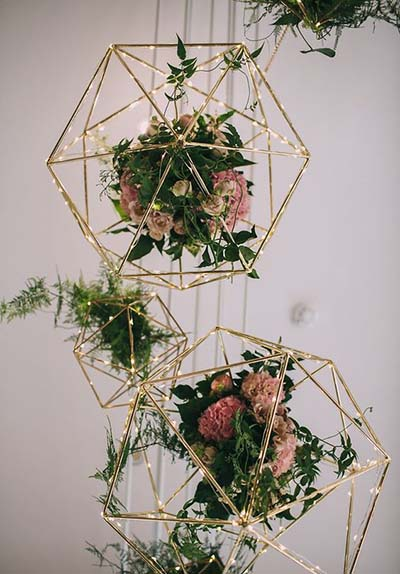 Geometric Gold Wedding Decor :: 2017 Wedding Trends