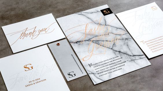 Marble Wedding Invites :: 2017 Wedding Trends