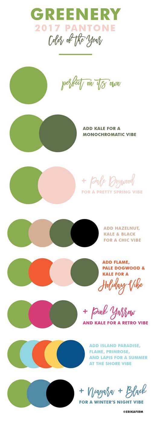 2017 Wedding Color Palettes and Schemes
