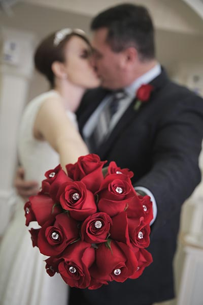 Red Rose Bouquet  | Fairytale Wedding I Beauty and the Beast Wedding Ideas