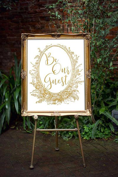 Be Our Guest Wedding Sign | Fairytale Wedding I Beauty and the Beast Wedding Ideas