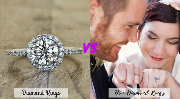 Diamond Rings vs Non Diamond Rings | New Wedding Traditions to Replace Old Wedding Traditions