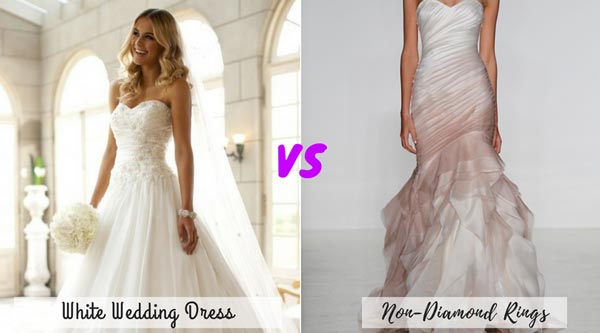 White Wedding Dress vs Color Wedding Dress | New Wedding Traditions to Replace Old Wedding Traditions