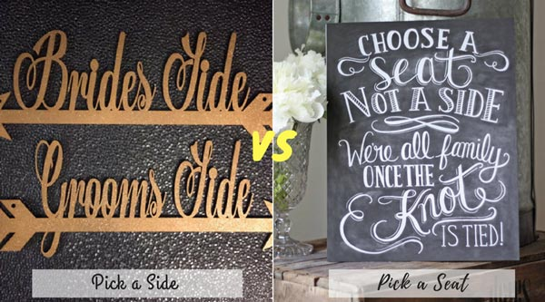 Pick a Side vs Pick a Seat | New Wedding Traditions to Replace Old Wedding Traditions